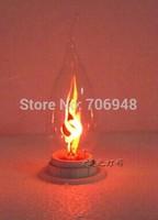 E14 3w led candle light bulbs 85-265v flame blinking effect