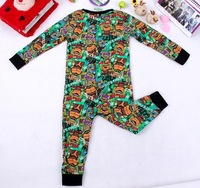 Fashon Ninja Turtle children's clothing autumn and winter child long-sleeve cartoon romper bodysuit jumpsuit for kids