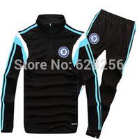 Chandal Chelsea Training Tracksuit Top A+++Thai Quality Barclays Premier League Chelsea 2015 Men Sportswear Survetement Football