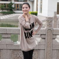 Free shipping sweater female Korean loose sweater coat large size women fat mm2014 Hitz female sweater