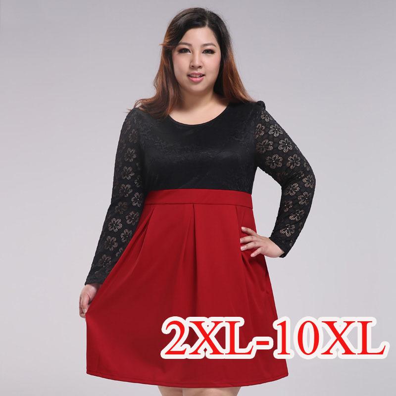 Aliexpress.com : Buy 10XL Lace Patchwork Dresses Vestidos 5XL Plus ...