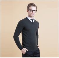 New fashion men's sweater v-neck high quality knitwear sweater wool knitwear 3 colors M L XL XXL XXXL Free Shipping