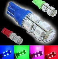 2pcs/lot T10 9SMD 5050 Car 194 168 192 W5W 9 LEDs Light Auto LED Bulbs Lamp Wedge Interior Light R/G/B/Y/W FREE SHIPPING
