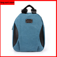 New canvas shoulder bag Korean version of casual fashion for men and women sports bag backpack school students