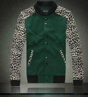 mens baseball coat autumn winter sport suit 2013 new fashion for sports men leopard men shirt jackets coats Brand new