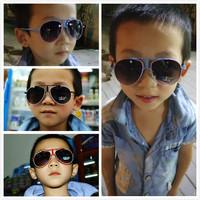2014 female small box parent-child frog sunglasses male baby child sunglasses