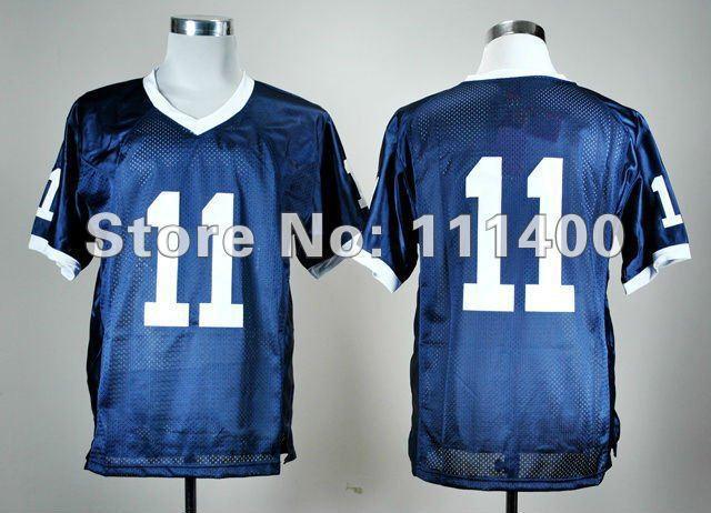 Good Customer reviews Jersey Jerseys Penn State Nittany Lions #11 blue ncaa football jerseys mix order embroidery Logo(China (Mainland))