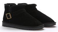 Classic Hasp Buckle Genuine Leather Women Short Snow Boots Cowhide Ankle Boots 4 Colors Size Eur 35-39