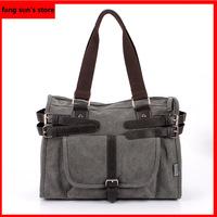 2014 Korean version of the latest men's fashion casual canvas bag hand shoulder bag Messenger bag