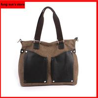 2014 new Korean men's shoulder bag Messenger bag fashion casual canvas tote bag business bag