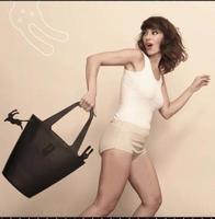 AC446 Modern Fashion solid PVC 3d cartoon rabbit handbag tote shopper black 2015 new free shipping