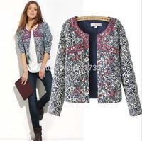 winter coat womens jacket woman print cardigan peplum jacket,blouson femme,casaquinhos femininos 2014,chaquetas mujer invierno
