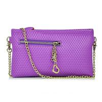 2014 spring women should bag plaid chain clutch bag small vintage mini cross-body bag women leather handbag Free shipping