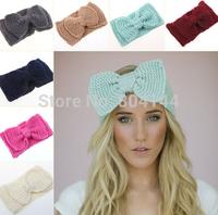 Big-Size-Knitted-Winter-Flower-Ear-Warmer-Hairwrap-Crysta-Womens-Headband