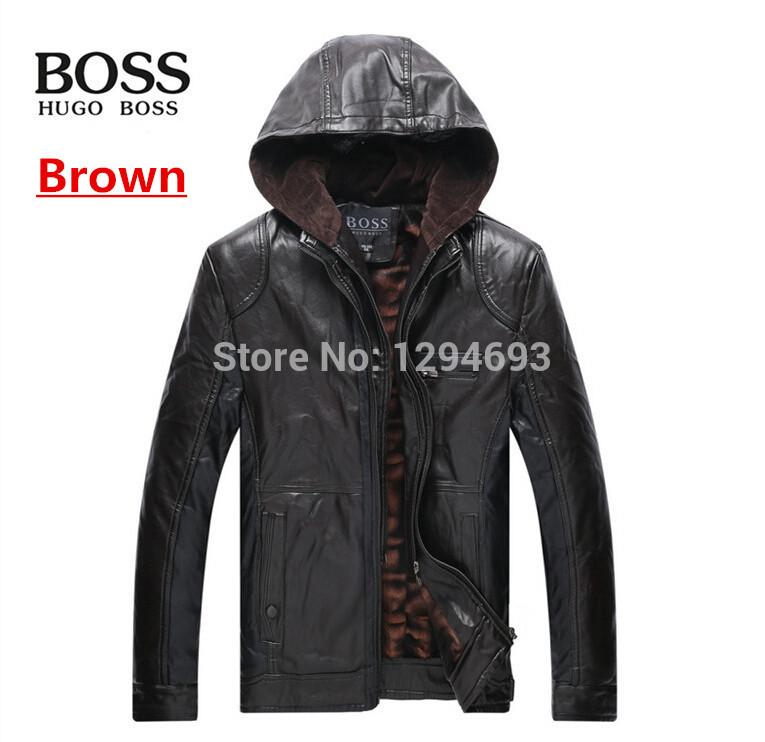 2014 new style Men leather jacket coat men's thicken keep warm motorcycle jacket coat men outdoors big size leather coat M-XXXL(China (Mainland))