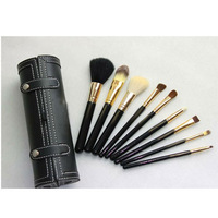 HOT! 2014 hot sale MA brand 9 pcs makeup cosmetic brush set with bag,professional make up brushes set,free shipping
