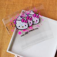 Hello kitty Self Adhesive Seal bakery bread plastic bag 14cmx14cm