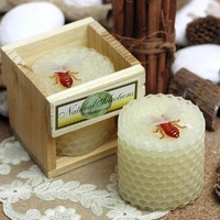 [1 pc] Child birthday party supplies birthday candle bee candles smokeless beeswax candle small candles home deco