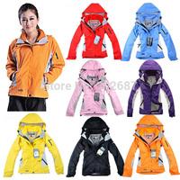 Women's Outdoor Sports Ski Mountaineering Windproof Rain Coats Jackets Warm Two Coats/Mountaineer Outerwear & Coats