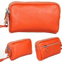 Leather Women Coin Purse Double Zipper Women Purse Mini Key Wallets HB-224