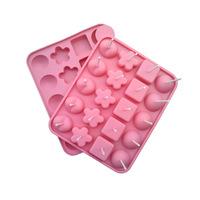 Lollipop mold, Dessert Tools food grade silicone chocolate mold