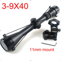3-9X40 Hunting Mil Dot Air Rifle Gun Outdoor Optics Sniper Deer Hunting Scope Telescopic Sight Riflescope with 11mm rail mount