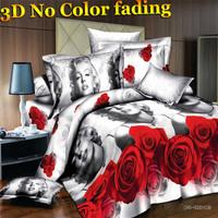 3D bedding sets king size 3d bed linen bedclothes Marilyn Monroe designer 3d bed sheets duvet cover set