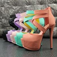 2014 fashion platform pumps sexy high-heeled shoes thin heels round toe platform shoes women's Wedding Shoes!Free PP