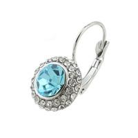 Women Gold/Silver Plated Jewelry Rhinestone Oval Stud Earrings 64141