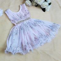 NEW ! Girls sequins princess dress ,  girls dresses ,girls dresses children ,5pcs/lot