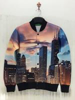 3D Printing Jacket Sweatshirt City In The Noon