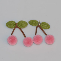 2014 New Cherry Hairball Brooch Pins earing Clothes Accessories