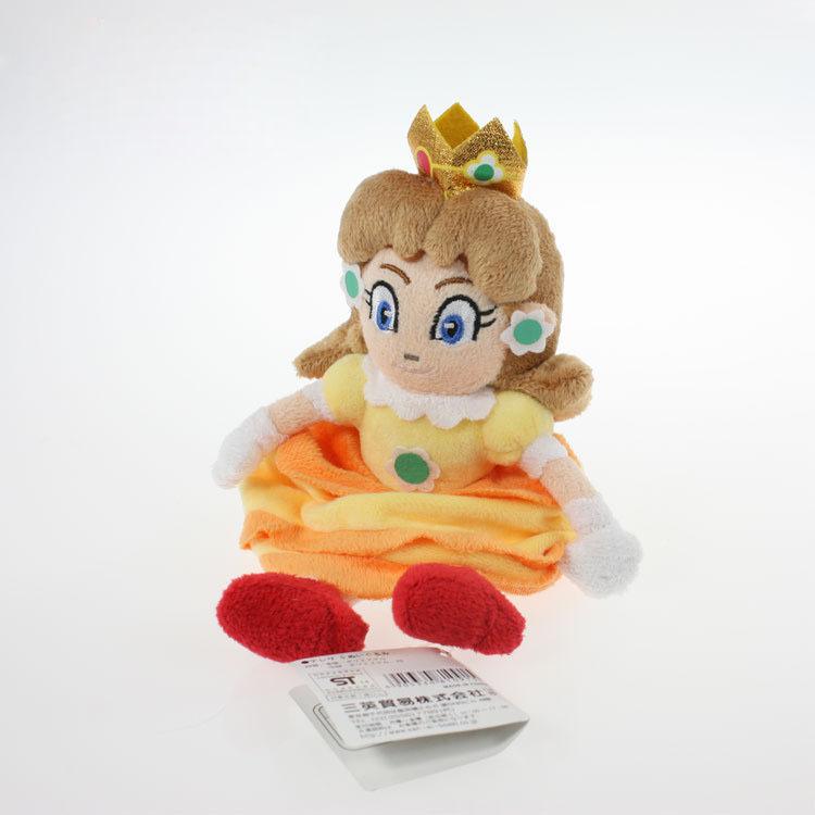 EMS 100 Шт./лот Super Mario Bros 15 см Принцесса Daisy желтый сидит Принцесса Мягкие Плюшевые Игрушки Куклы Для Детей Детское подарок