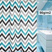 7 SIZES Rhombus stripe bathroom curtain terylene waterproof shower curtain 90g/m2 SCBN006
