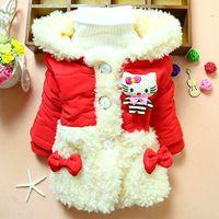 4pc/lot factory baby girls coats fur winter cotton children clothes thicken kids outerwear jackets wholesale panya 219