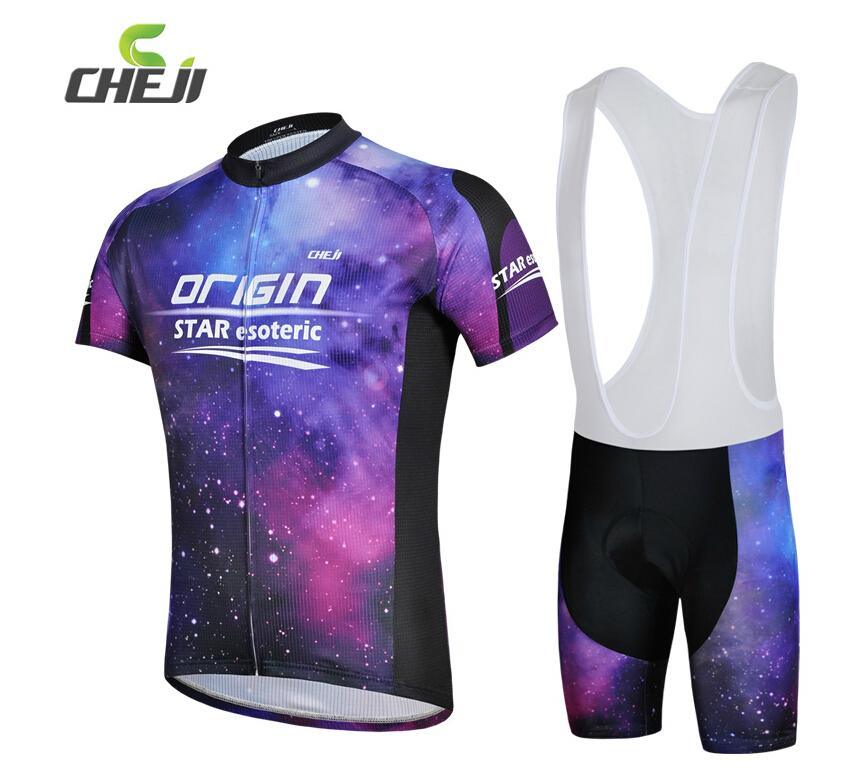 Free shipping Men Nebula Sportswear cycling jersey Purple short Sleeve Jersey + Silicone damping cushion short pants Jersey Sets(China (Mainland))