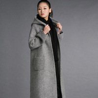 Long design vintage loose woolen overcoat thickening cloak clip cotton-padded coat autumn and winter plus size clothing