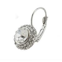 Women Gold/Silver Plated Jewelry Rhinestone Oval Stud Earrings 64142