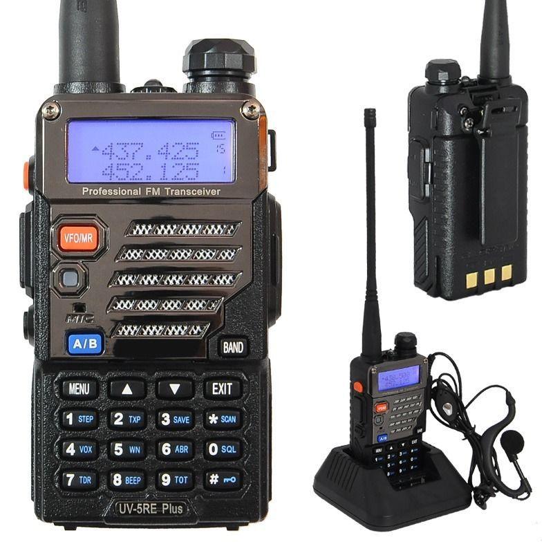 2014 Dual Band Two Way Radio BAOFENG UV 5RE Plus Walkie Talkie 5W 128CH UHF VHF