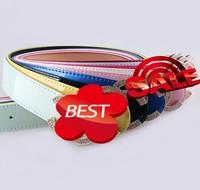 wholesale High Quality Brand Belt new fashion Luxury rhinestone crystal leather belts for women popular beauty waistband belt