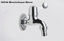 Deluxe 304 Stainless Steel Casting Outdoor/Garden/Washing Machine Tap Faucet Wholesale(China (Mainland))