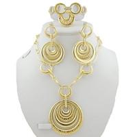 african jewelry set  wedding jewelry set 18K gold jewelry set  party jewelry set