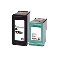 Free shipping Color and Black Two pcs ink cartridge CB336EE CB338EE for hp 350xl 351xl