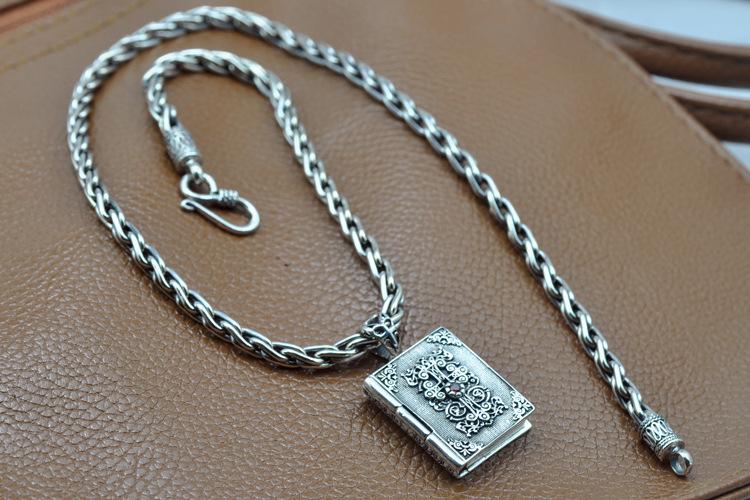 925 sterling silver pendant bible cross pendant purify the soul(China (Mainland))