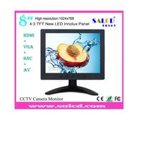 alibaba china ! 8   inch   monitor  lcd with HDMI /AV/VGA/BNC input for Surveillance +1080p HDMI