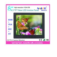 alibaba  express! 8  inch security  monitor  with HDMI /AV/VGA/BNC input for Surveillance +1080p HDMI
