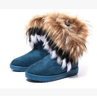fashion new 2014 winters short boots  women's warm  short  boots inside velvet faux fur