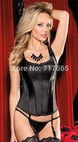 Sexy women waist training corset Lace and Satin Halter Corsets Body Shapewear Bustier cincher bustier corselet corpete
