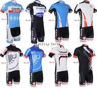 Free shipping! 2014 33-40 hot sale short sleeve cycling jersey bib shorts bike bicycle wear clothes jacket pants kit+GEL pad