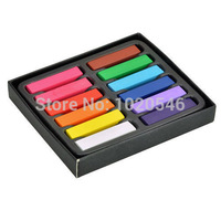 12 Colors Non-toxic Temporary Salon Kit Pastel Square Hair Chalk Beauty Hair Roller Hari Colors Pastel Chalk Use for hair